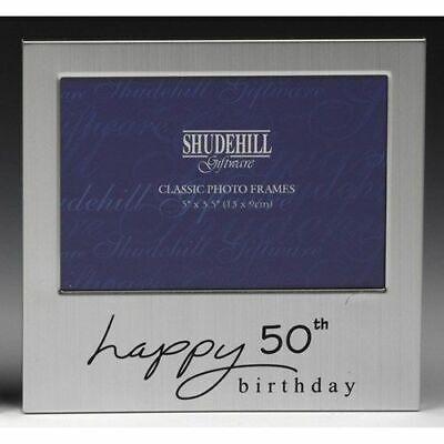 Capace Felice 50th Compleanno Regalo Cornice Foto Cinquanta Shudehill 72250- Pulizia Della Cavità Orale.
