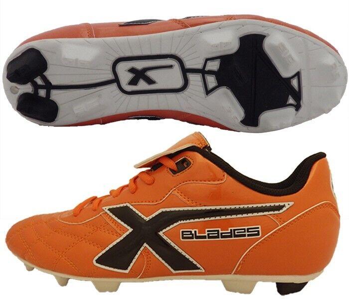 XBLADES LEGEND FLASH FIRM GROUND RUGBY FOOTBALL BOOTS – orange - SIZE 7 - BNIB