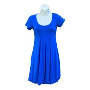 Romeo & Juliet Couture Womens Skater Dress Blue Short Sleeve Scoop Neck S New