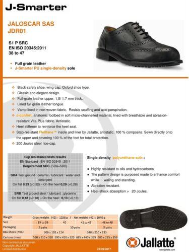 Jallatte Jaloscar Uomo in pelle Safety Puntale Scarpe Robuste Direzionale Lacci