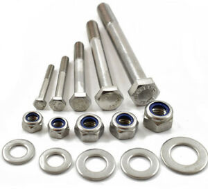 M10-A2-STAINLESS-PART-THREADED-BOLT-SCREW-NYLOC-NUT-amp-WASHERS-HEXAGON-HEX-HEAD