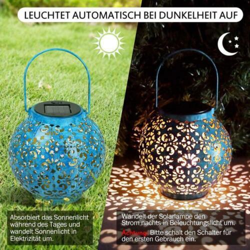 Solar Powered LED Morrocan Lantern Decorative Hanging Outdoor Garden Lamp Light