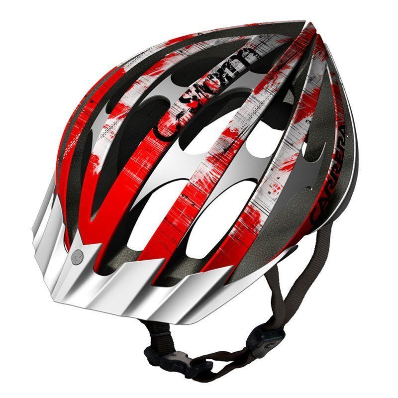 Carrera C-Storm 2 MTB Helmet Red & White - RRP .99