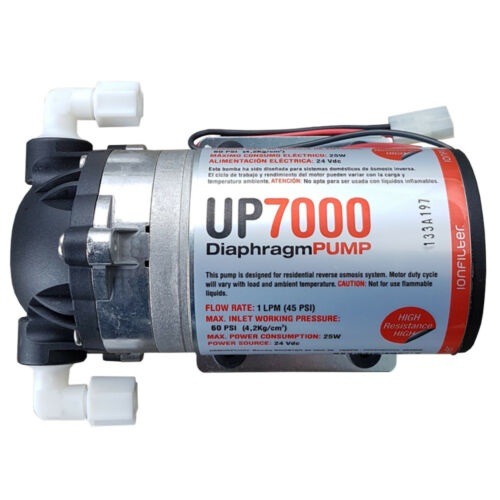 Alimentatore OSMOSI Umkehrosmose impianti POMPA up7000 High Flow BOOSTER PUMP 75gpd