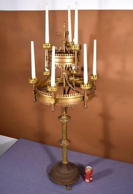 Victorian Gothic Church Candle Holders