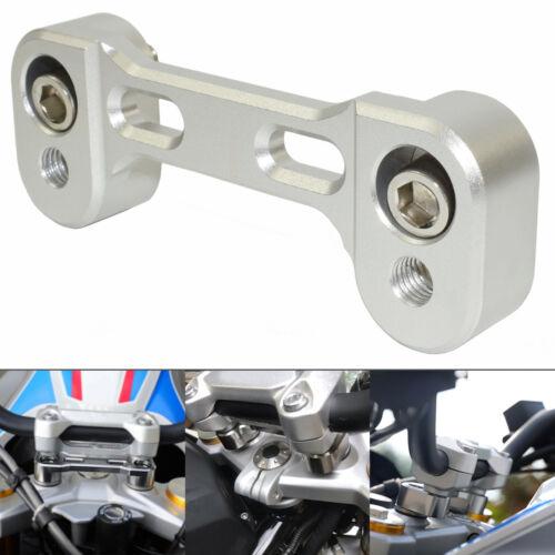 Handlebar Riser Bar Height 20mm, 17mm Backward Silver For BMW G310GS G310R 16-19