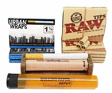 Urban Wraps 1 1/2, RAW Pre-Rolled Tips, 79 Roller with RPD Doob Tube