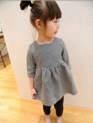NEW Designer style Toddler Girls Houndstooth Check Pleated Dress Size 1.2