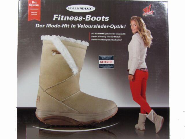 WALKMAXX Fitness-Stiefel Boots 37 38 39 40 41 42 beige Po Rücken Winter Schuhe