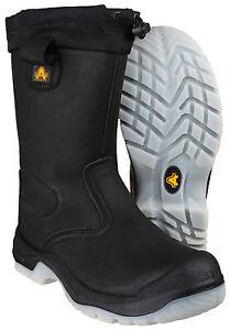 Cap Toe Uk4 Rigger Fs209 Safety agua Boot Negro Hombre Amblers Resistente Acero 14 al 7UZqBZ4vS