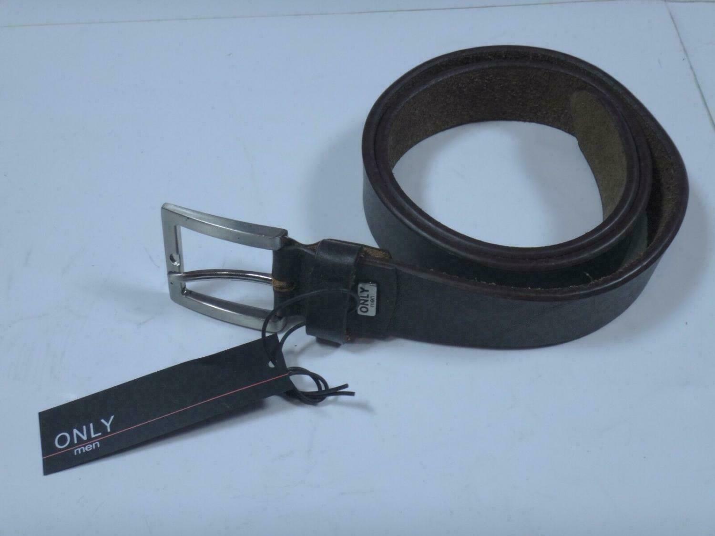 00094 - Gürtel braun / dunkelbraun Only men LEDER | Länge: 85cm Breite: 3,6cm