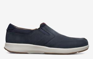 Clarks Pour Hommes Unstructured Un sentier Step Bleu Marine Nubuck Slip-on Casual Shoes