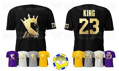 Los Angeles Lebron James LA Bron King 23 GOLD Men Size S-5XL | eBay