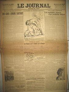 8668-WW1-DEBACLE-AUTRICHE-CZERNOWITZ-DESSIN-LEANDRE-COMMUNIQUeS-LE-JOURNAL-1916