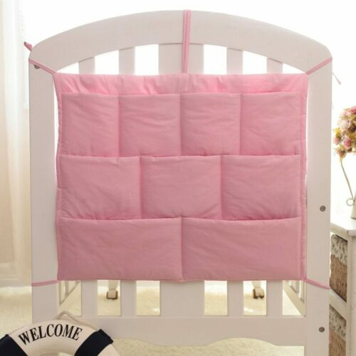 Rooms Nursery Hanging Storage Bag Cartoon Baby Cot Bed Crib Organizer Toy Diaper