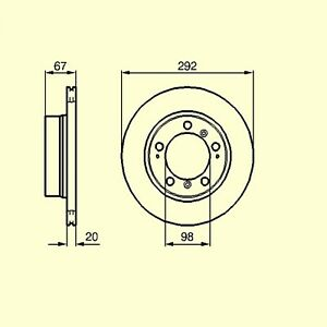 2-BOSCH-Bremsscheiben-hinten-PORSCHE-Boxster-986-2-5-2-7-292-mm