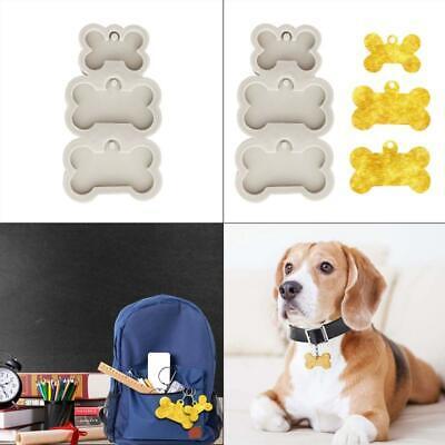 Silicone Bone Shape Pendant Resin Mold DIY Dog Tag Keychain Resin Casting Mould