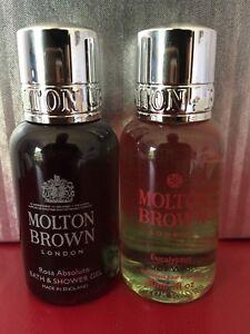 MOLTON-BROWN-Eucalyptus-Body-Wash-Rosa-Absolute-Bath-amp-Shower-Gel-Set-of-2