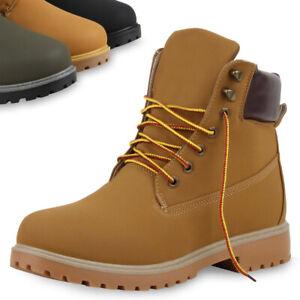 free shipping 733cb 653c5 Details zu Herren Stiefeletten Worker Boots Bequeme Outdoor Schuhe  Schnürboots 74151 Top