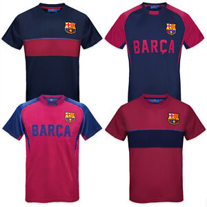 best service 9f3d4 a9229 Details about FC Barcelona Official Football Gift Boys Poly Training Kit  T-Shirt
