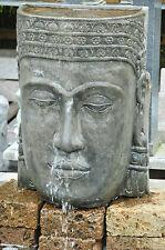 Wasserfall Khmer - Kopf Steinguss Buddha Wasserwand Garten Brunnen mit Pumpe