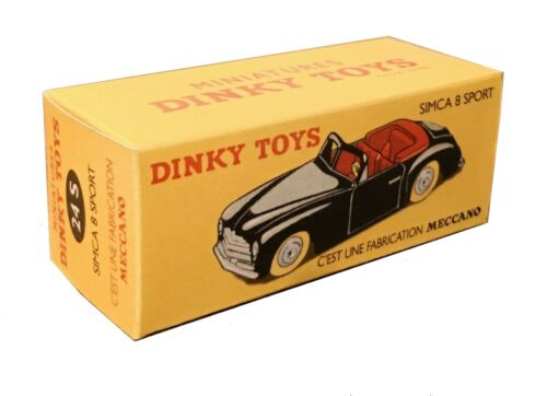 Dinky Toys boîte repro 24 S Simca 8 sport