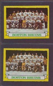2 Card Lot 1973 74 Topps Boston Bruins #93 Team Card Bobby ... Bruins Roster 1973