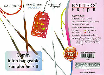 Knitter/'s Pride KP800193 Comby Interchangeable Sampler Set of 3
