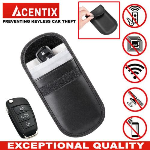 Genuine Theft-Car Key Keyless Entry Fob Signal Guard Blocker Black Faraday Bag