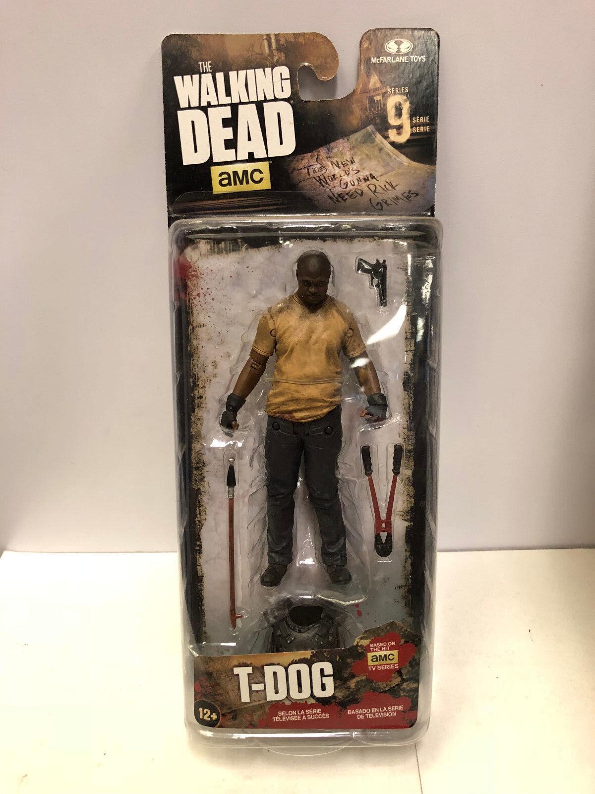 The Walking Dead Tv Figur Serie 9 T-Dog Figur Tv Mcfarlane Toys 2016 0a73d1