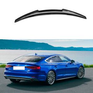 Carbon-Fiber-Rear-Trunk-Boot-Spoiler-Lips-For-Audi-A5-S5-RS5-Sportback-B9-17-19