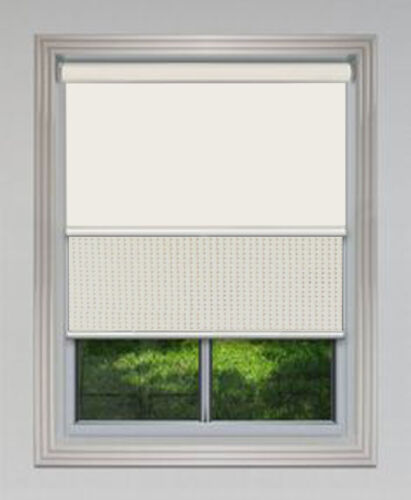 Dual Day Night Double Roller Blinds 240cm 2400mm W X120