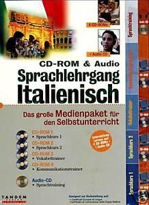 CD-ROM-amp-Audio-Sprachlehrgang-Sprachkurs-Sprach-Kurs-Italienisch-BRANDNEU
