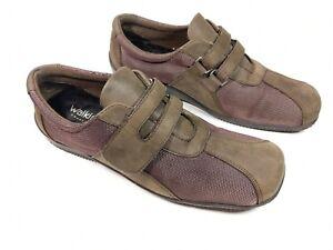 Walking Cradles Brown leather Fabric