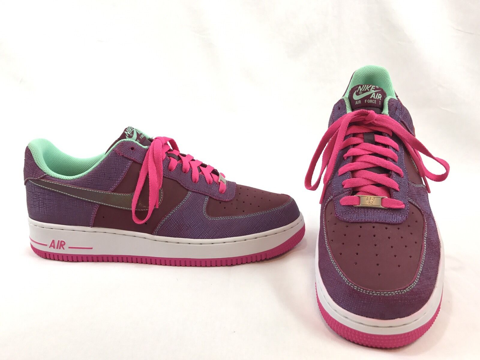 Nike Air Force 1 Cherrywood Mens 488298-614 Red Green Pink Low Shoes Size 13