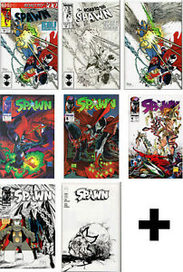 SPAWN-COMIC-BOOKS-1-6-7-298-299-300-301-Todd-McFarlane-Capullo-Campbell