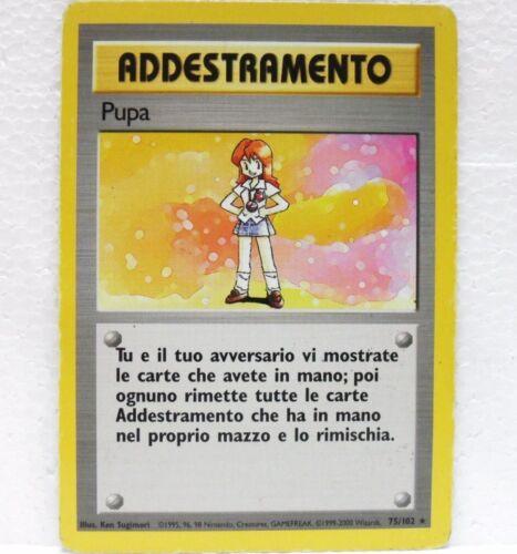 75//102 ITALIANO carta PUPA POKEMON set base unlimited