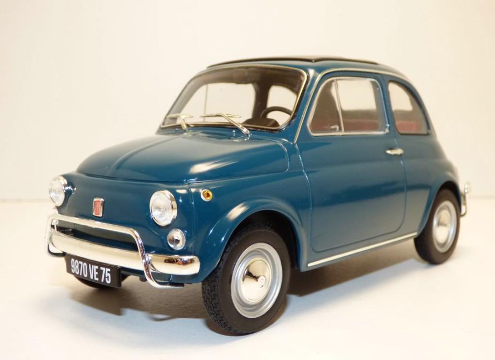 Fiat 500L bleu Turchese 1968 1 18 187770  Norev