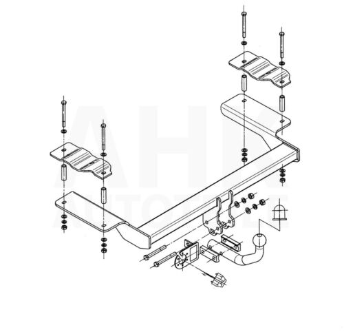 Fiat Croma Kombi 05-11 Kpl Anhängerkupplung starr+E-Satz 13p