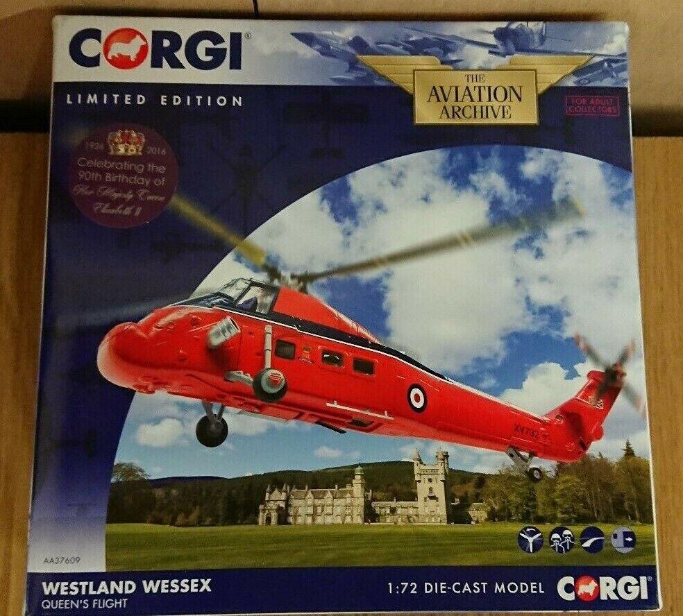 Corgi AA37609 Westland Wessex QUEENS FLIGHT Ltd Edition No. 0967 of 1200