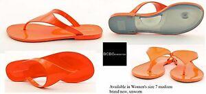 68f540b1a90c BCBGeneration Women s size 7m Starr Metallic Thong in Papaya Neon ...