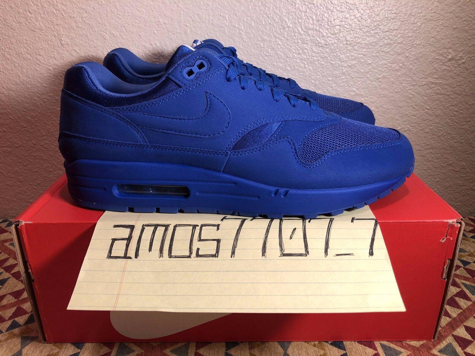 Nike air max 1 premio tonale confezione blu reale 875844 400 sz 9 10 11 13