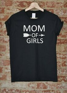 Mom-Of-Girls-Shirt-Mother-039-s-Day-Gift-Mama-Funny-Tee-Arrow-Women-T-shirt-S-XXXL