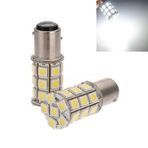 2x-1157-BAY15D-P21-5W-27-SMD5050-LED-Feux-de-freinage-Blanc-Stop-Ampoules-12V