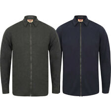 New Mens Tokyo Laundry Millbrook Cotton Zip Up Long Sleeve Shirt Top Size S-XL
