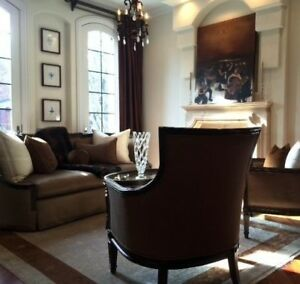 Image Is Loading Marge Carson Stunning Pair Of Evangeline Chairs
