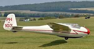 Image Is Loading Dfs Kranich Glider Two Seat Sailplane Aircraft Wood