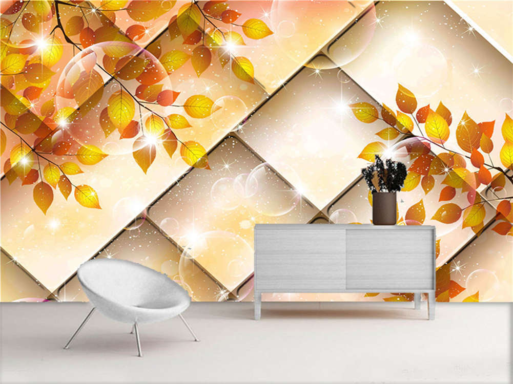 Enormous Pulpy Leaf 3D Full Wall Mural Photo Wallpaper Printing Home Kids Decor