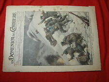 La domenica del corriere 1916 n.18 alpini barili slitte espolsive