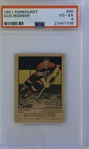1951-1952-PARKHURST-Gus-Bodnar-PSA-4-Very-Good-Excellent-VG-EX-40-HOCKEY